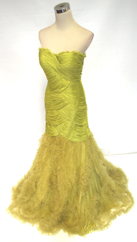 NWT Morrell Maxie  680 Lime Prom Homecoming Gown 12