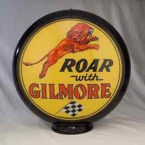 Roar Gilmore Gas Pump Globe Sign Oil Filling Station Cabin Home Den Garage Decor