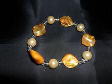 Pearl and Bead Elasticated Bracelet BNWOT
