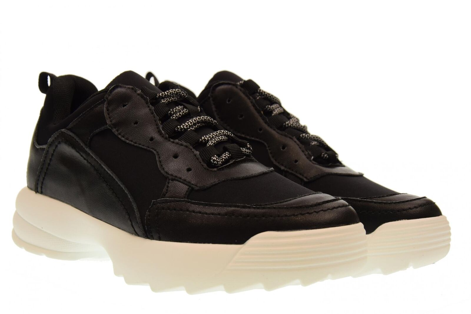 gold&gold A18f shoes femme baskets basses avec plateforme gt531 black