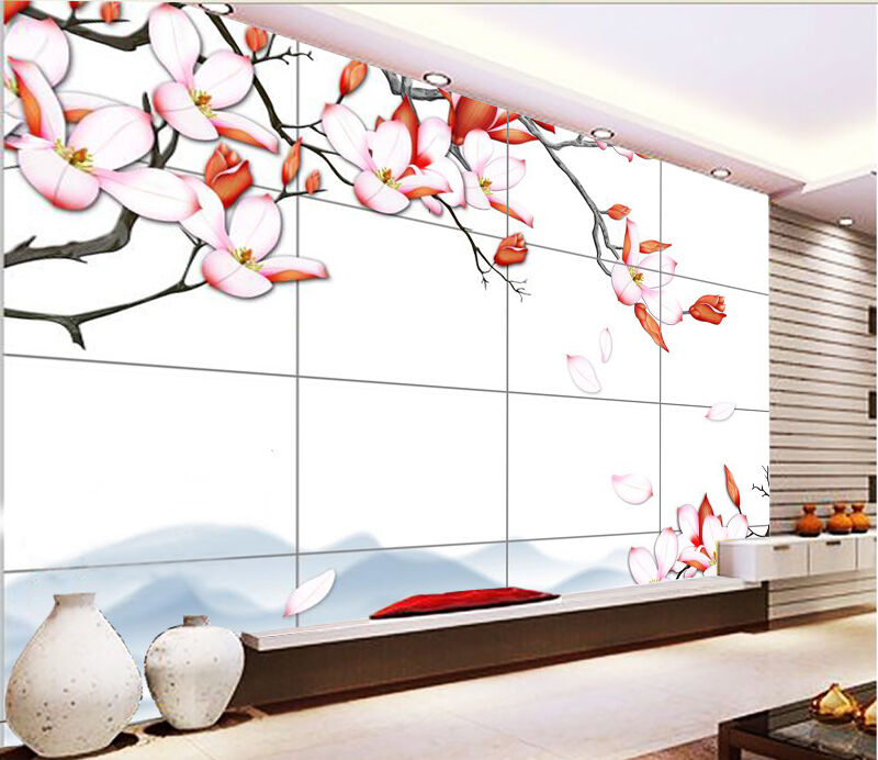 3D rot flower hill 3523 Wall Paper Wall Print Decal Wall Indoor Murals Wall US