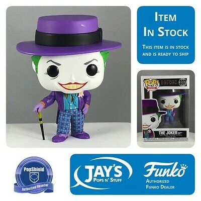 POP Heroes Batman 1989 Joker with Hat with chance of Chase Funko POP Viny...