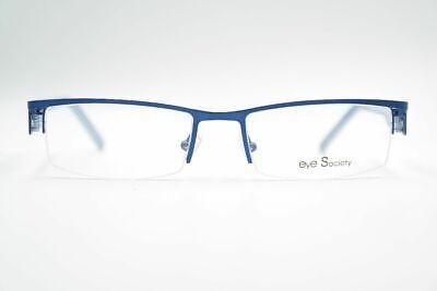 Initiative Vintage Eye Society Es136 53[]18 135 Blau Halbrand Brille Eyeglasses Nos Exzellente QualitäT