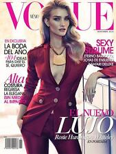 Vogue Magazine Mexico November 2014, Rosie Huntington Whiteley,James Macari NEW
