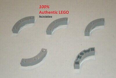LEGO Parts~ 2 Brick 4 x 4 Round Corner 48092 DK BLUISH GRAY