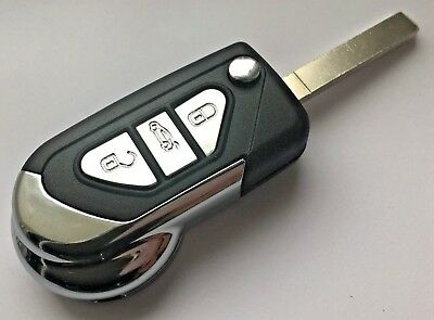 Automobile Locksmith 2 Button Folding Flip Key Shell Case for Citroen C3 DS3 2 Button Remote Key Fob