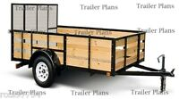 1 Trailer Plans 6x8 Single Axle Utility Trailer Plans,instructions,save $ Easy