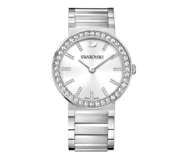 Swarovski Citra Sphere - White, Metal Ladies' Watch Swiss Quartz MIB - 1185827