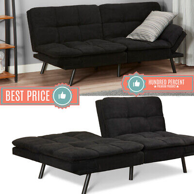 Terrific Memory Foam Futon Sleeper Sofa Bed Couch Convertible Foldable Black Full Size Ebay Beatyapartments Chair Design Images Beatyapartmentscom