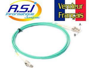 Câble fibre optique LC vers LC multimode duplex 1m VENDEUR FRANCAIS
