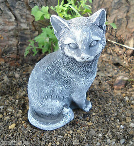 """Latex only small smooth cat / kitten mold plaster concrete cement mould 4""""H"""