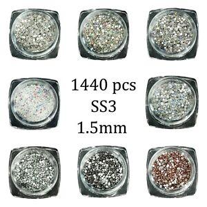 1440pcs-SS3-1-4mm-Glass-Rhinestone-Small-Tiny-Clear-Gems-Nail-Art-Bling-Diamante