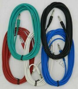 20ft-6-Metri-6m-Jack-Chitarra-Elettrica-Cavi-Cavi-Cavi-Pedale-0-6cm-6-35mm