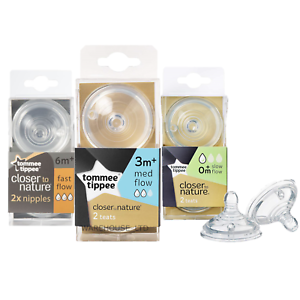 Tommee-Tippee-Closer-To-Nature-Teat-Easi-Vent-Variflow-Bottle-Teat-All-Sizes