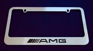 Mercedes benz amg license plate frame custom made of for Mercedes benz license plate frame rhinestones