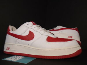 2003 Nike Air Force 1 Low White Varsity Red Valentine S Day 306353