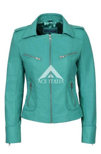 en cycliste délavé motif motard Aqua et souple véritable Veste nappa 9823 cuir style NP8kn0OwXZ