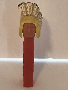 Vintage PEZ Dispenser Indian Chief with Damaged Headdress No Feet Austria used