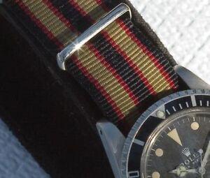 Extra-Long-watch-band-Real-Bond-Khaki-20mm-nylon-military-type-strap-26-sold