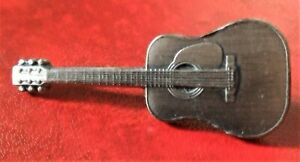 Mini-Acoustic-Guitar-Badge-Pewter-Near-New-FREE-POSTAGE