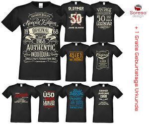 T Shirt Zum 50 Geburtstag Geschenk Frau Mann 1968 T Shirts Lustige