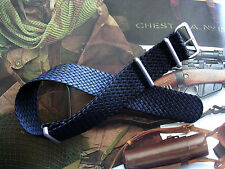 22mm Black Woven Braided Tropic SS NATO G10 Nylon watch band RAF strap IW SUISSE