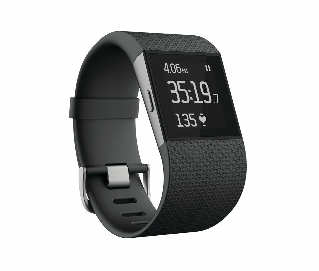 Fitbit Surge FB501BKL FB501BKS Fitness superwatch GPS heartrate-grandes o pequeños
