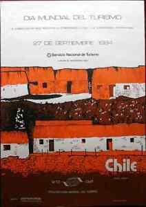 Original Poster Chile World Tourism Day 1984 Antofagasta Ayquina South America