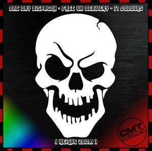 LibéRal Skull Car/van Décalque Anti-chocs Novelty Sticker Funny Dub Euro Jdm-17 Colours-afficher Le Titre D'origine