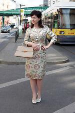 Damen Kleid mit Jäckchen dress Kostüm Asia Look gold 50er True VINTAGE 50s women
