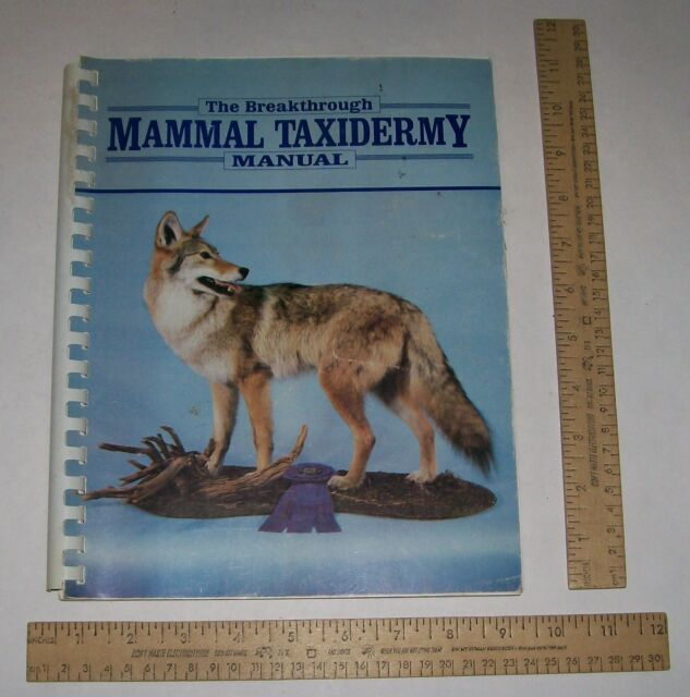 The Breakthrough MAMMAL TAXIDERMY MANUAL - illustrated paperback - as is