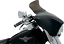 """6.5/"""" Lucite Smoke Spoiler Windshield For Memphis Shades Batwing Fairing Harley"""