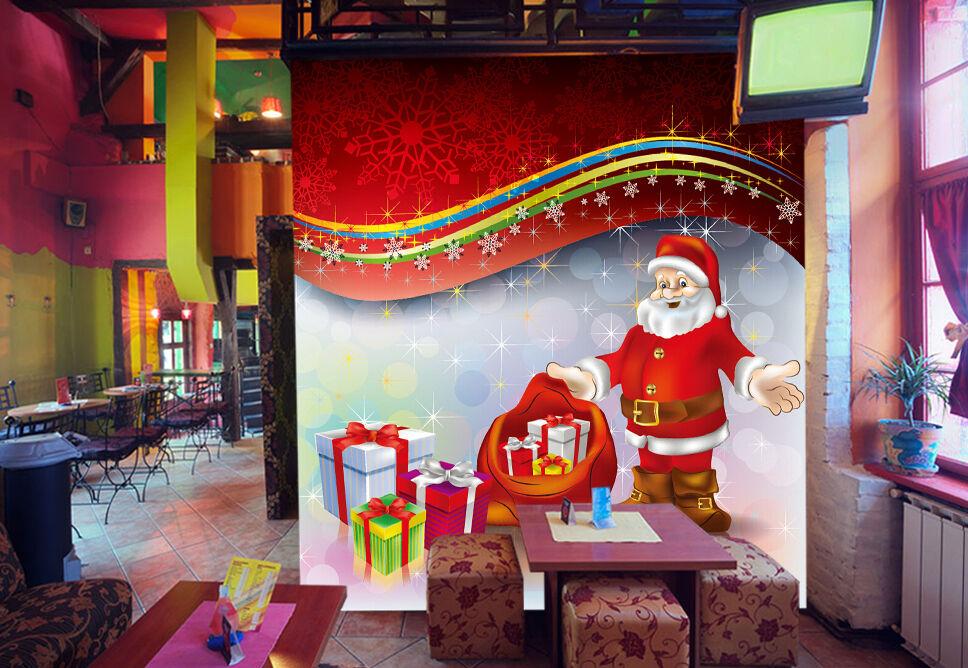 3D Christmas big gift 43 WallPaper Murals Print Decal Wall AJ WALLPAPER