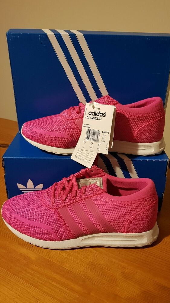 ADIDAS LOS ANGELES Couleur Rose Taille 5 1/2 (EUR 38 2/3) Bnwt-
