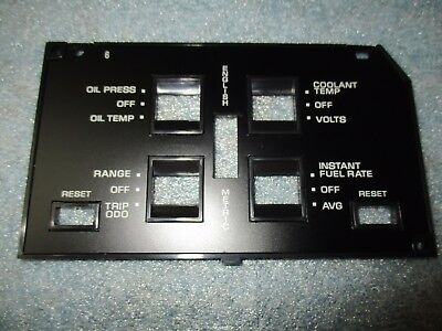 84//85 corvette dash information center lens NEW! C4