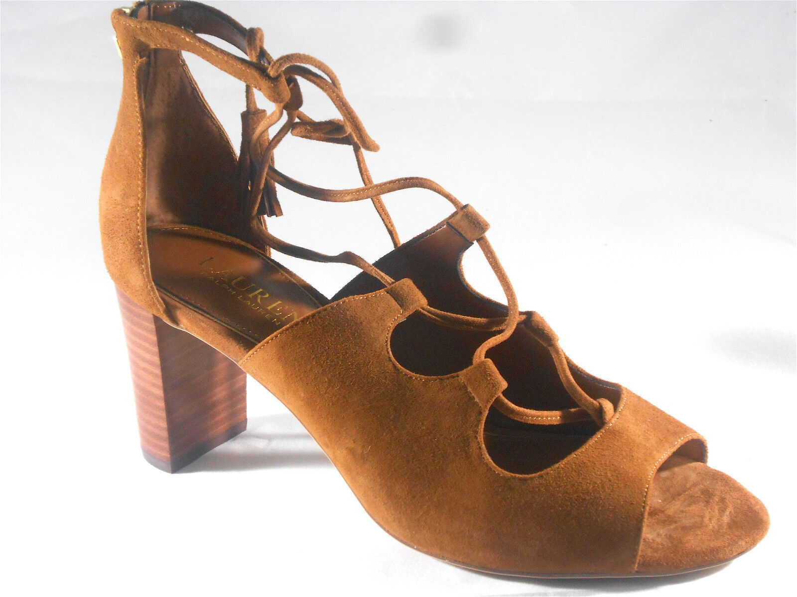 LAUREN BY RALPH LAUREN (HASEL KID SUEDE HEEL) WOMENS SIZE 8.5 BRAND NEW