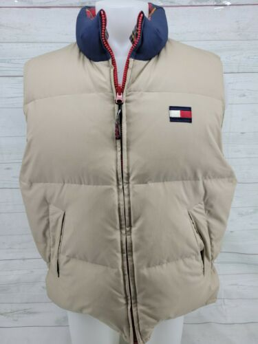 Vintage Tommy Hilfiger Down Puffer Vest Coat Plaid