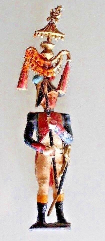 Figürchen Soldat Blei Cbg Premier Empire Anhänger Fahne Jahre 50