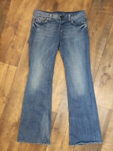 Women-s-Lucky-Brand-Lil-Maggie-Flare-Jeans-Size-6-28-Low-Rise-Distressed-Stretch