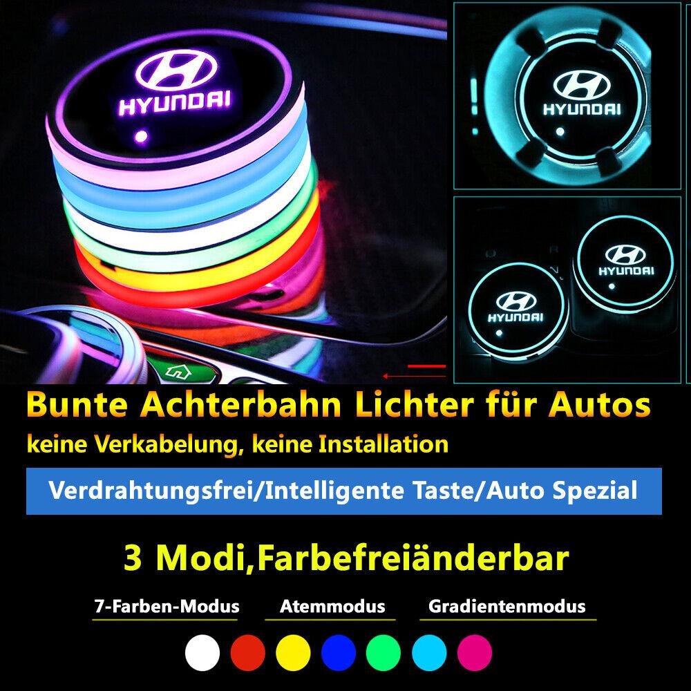 2 Stück Ambience Lights Zubehör Atmosphäre Lichter Lampen Hyundai Autos Licht