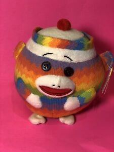 Ty Beanie Ballz SOCK MONKEY - the Sock Monkey (medium size)