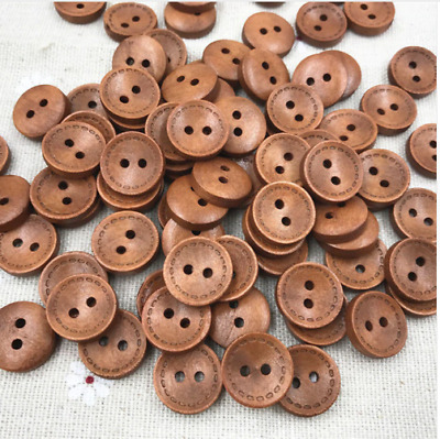 5 15mm Coconut Star Buttons 2 Hole Flatback Sewing Craft UK SELLER  Knitting