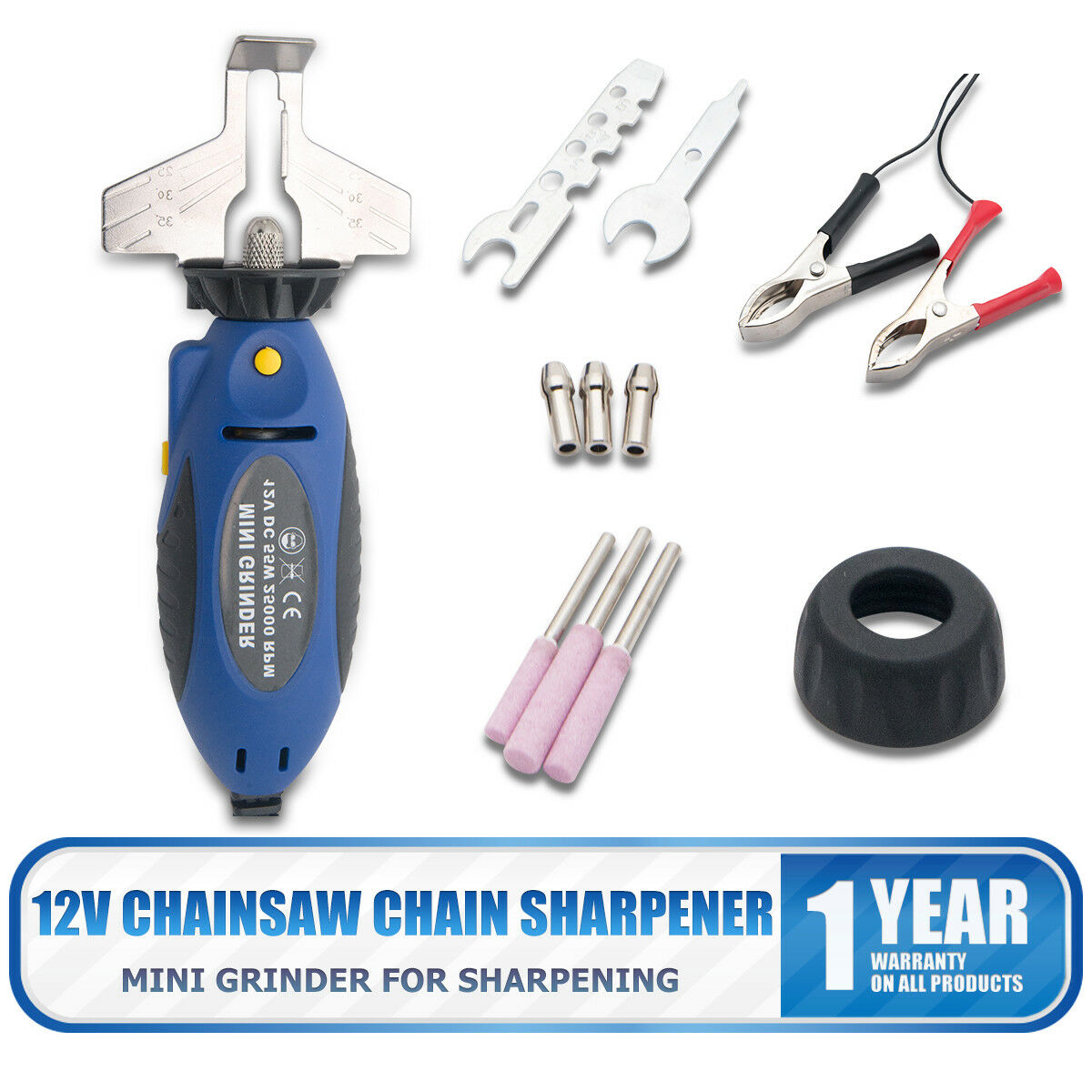 Terrific 12V Chainsaw Sharpener Chain Saw Grinder Electric Grinder File Sharpening Tool Bralicious Painted Fabric Chair Ideas Braliciousco