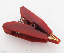 10pcs Red Copper Electric Kelvin Test Clip Screw Fixed 10a 10amp Gold Tip 41mm