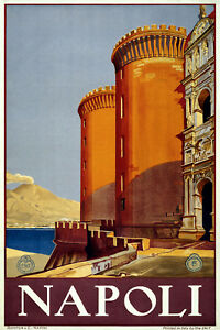NAPOLI  ITALY VINTAGE STYLE REPRODUCTION TRAVEL POSTER Choice of sizes.