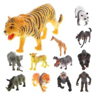 Modelli-di-Animale-Selvatico-Africano-Giocattolo-Educativo-Bambini-MINI-ZOO-figurine-Collection
