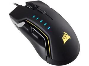 Corsair Gaming GLAIVE RGB Gaming Mouse, Backlit RGB LED, 16000 dpi, Optical, Alu