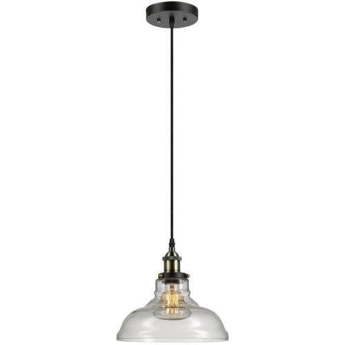 Globe Electric Latiya 1-Light Antique Brass and Bronze Hanging Pendant