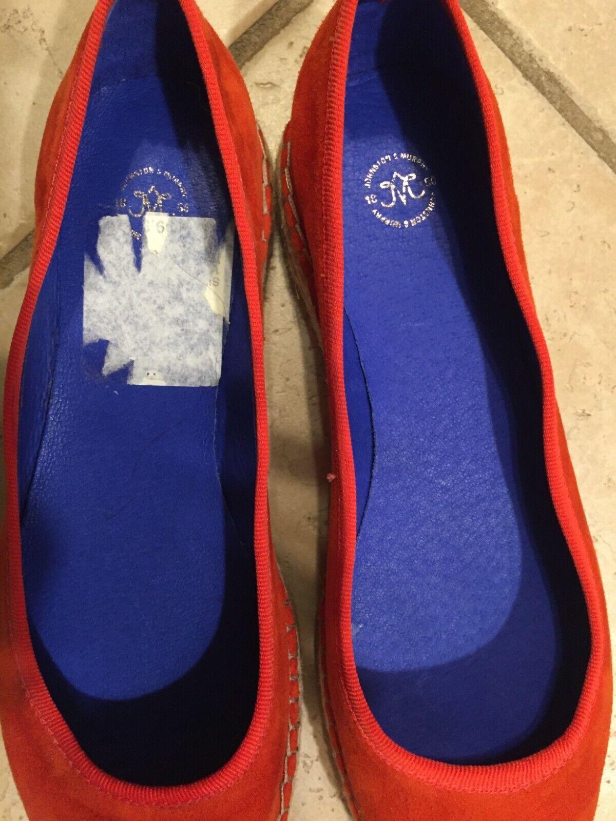 JOHNSTON & MURPHY orange Suede Flats Espadrilles Slip-On Slip-On Slip-On Womens Size 6.5M NWOB cc7122