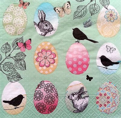4 Vintage Paper Napkins for Decoupage Lunch Decopatch Party Craft  Easter Mix 5